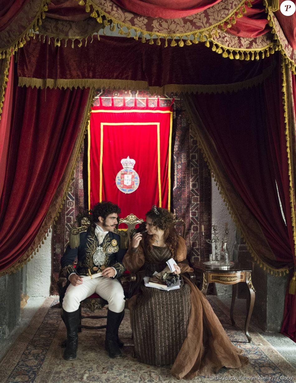 Dom Pedro (Caio Castro) deixa Leopoldina (Letícia Colin) no Rio de Janeiro  como Princesa Regente, na novela 'Novo Mundo' - Purepeople