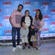Ricardo Pereira levou os filhos  Francisca, de 3 anos, e Vicente, de 5,  para pré-estreia de filme no Rio de Janeiro neste domingo, 27 de agosto de 2017