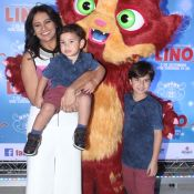 Dira Paes e mais famosos levam filhos para pré-estreia de filme no Rio. Fotos!
