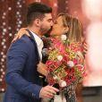 Viviane Araujo foi pedida em casamento por Radamés em dezembro de 2015, no 'Domingão do Faustão'