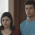 Matheus Abreu vive um triângulo amoroso complicado em 'Malhação' ao lado de Keyla (Gabriela Medvedovski) e Deco (Pablo Morais)