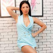 Simaria exibe decote em 1º ensaio como modelo: 'Mostrar enquanto está nova'