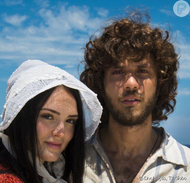 Na novela 'Novo Mundo', Anna (Isabelle Drummond) e Joaquim (Chay Suede) ganham final feliz e a escritora descobre nova gravidez do ator