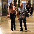 Irmã de Emilly Araújo, Mayla foi ao shopping com o pai, Volnei, na noite de quarta-feira, 6 de setembro 2017