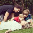 O casal tem dois filhos: Davi, de 4 anos, e Rafael, de 1