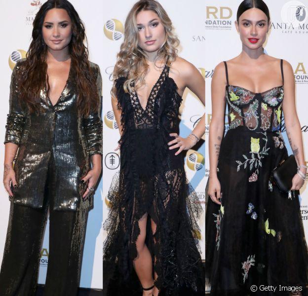 Demi Lovato, Sasha Meneghel e Thaila Ayala participaram do evento de gala beneficente 'A Brazilian Nigth'. Veja mais looks!