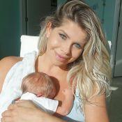 Karina Bacchi foge de furacão com filho e preocupa fãs: 'Mudou a direção'
