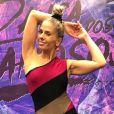 Adriane Galisteu caiu durante coreografia de funk no 'Dança dos Famosos', em 10 de setembro de 2017
