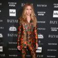 Gigi Hadid apostou em conjunto estampado Dolce & Gabbana coleção outono 2017 para festa realizada durante a NYFW, na última sexta-feira, 8 de setembro de 2017