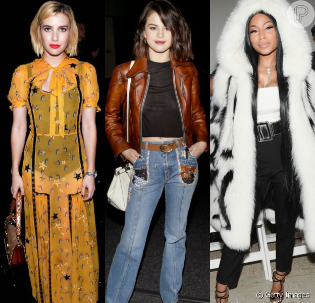 Emma Roberts, Selena Gomez e Nicki Minaj capricharam nas produções para prestigiar a New York Fashion Week. Veja mais looks!