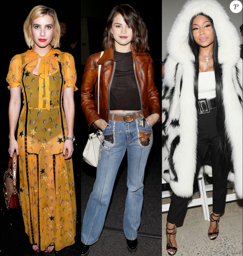 Veja fotos dos looks de Selena Gomez e mais famosas na New York ... dc3a68fac98