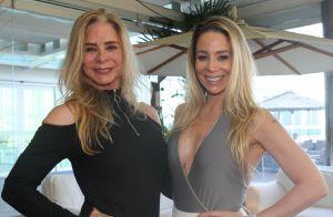 Danielle Winits leva a mãe, Nadja, a aniversário e semelhança impressiona. Fotos