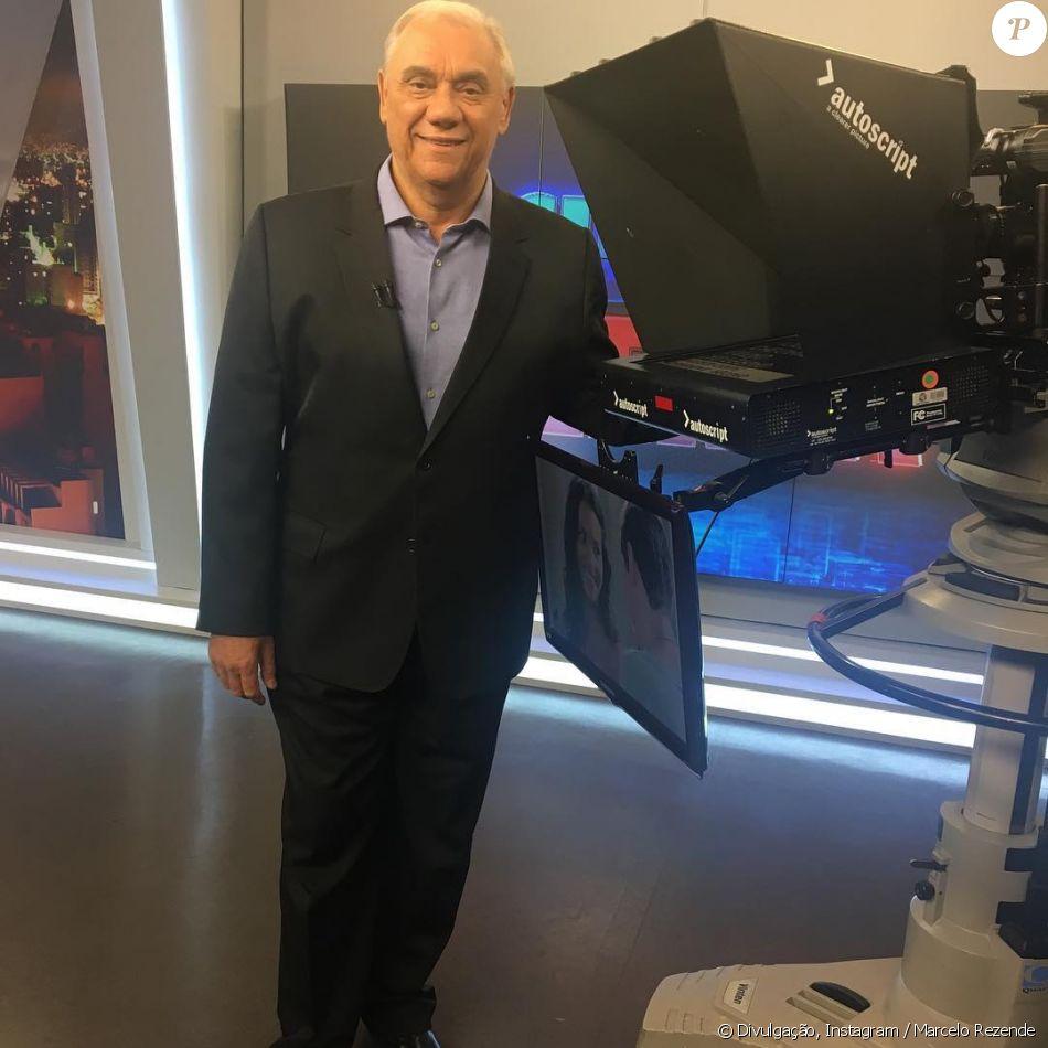 Com câncer, o estado de saúde de Marcelo Rezende piorou;  doença atacou parte do aparelho digestivo do jornalista