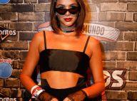 Bruna Marquezine volta ao Rock in Rio de top, luvas e óculos: 'Jovens bruxas'