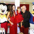 Daniela Albuquerque monta festinha da Disney para comemorar aniversário da filha Alice, fruto do seu casamento com Almicare Dallevo Jr, presidente da Rede TV