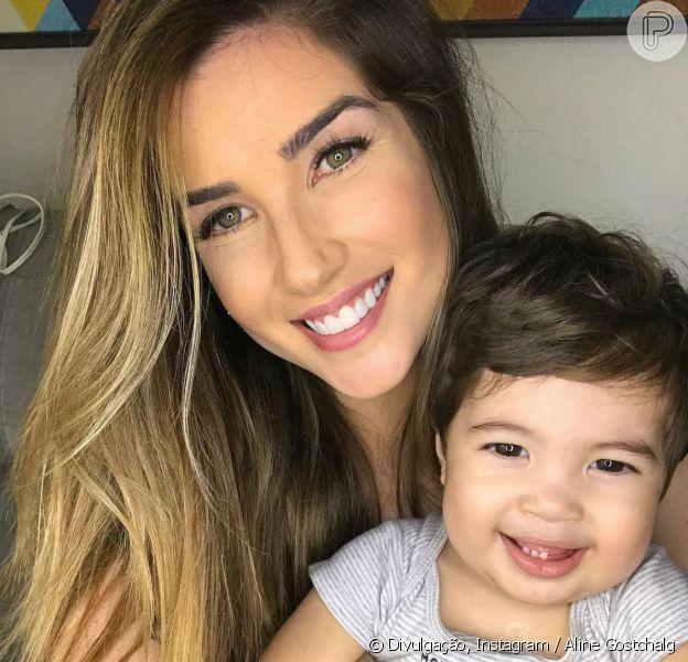 Mãe de Lucca, Aline Gotschalg dispensou babá para cuidar do filho