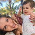 Ex-BBB Aline Gotschalg  falou sobre conciliar a profissão e a maternidade