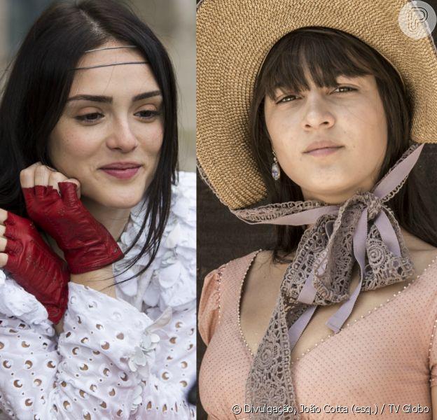 Anna (Isabelle Drummond) arma um plano com Jacira (Giullia Buscacio) para tirar Idalina (Dhu Moraes) das mãos de Sebastião (Roberto Cordovani), na novela 'Novo Mundo', a partir de 21 de setembro de 2017