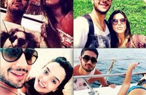 Giovanna Lancellotti parabeniza Miguel Rômulo: 'Irmão, amigo, parceiro. Te amo'