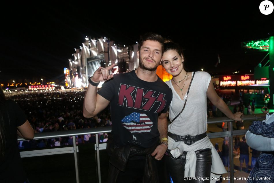 Klebber Toledo e a noiva, Camila Queiroz, prestigiam 4° dia do Rock in Rio, nesta quinta-feira, 21 de setembro de 2017