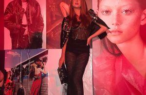 Marina Ruy Barbosa aposta em look com lingerie à mostra na Itália: 'Black sexy'