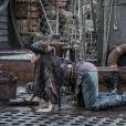 Na novela 'Novo Mundo', Elvira (Ingrid Guimarães) foi sequestrada pelos piratas e teve que novamente se submeter a trabalhos forçados no navio