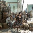 Elvira (Ingrid Guimarães) embarcou por engano em um navio de carga durante a fuga, ainda na Europa, na novela 'Novo Mundo'