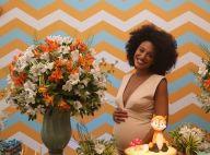 Sheron Menezzes comemora aniversário adiantado no chá de bebê do 1º filho
