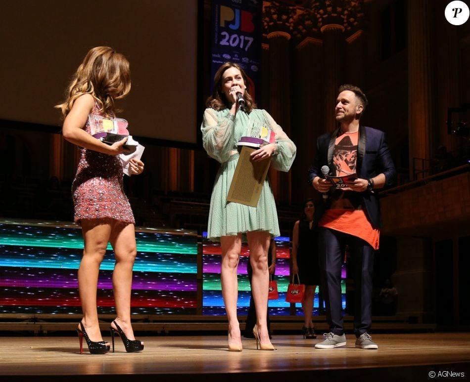 Sophia Abrahão vence categorias de Melhor Apresentadora e Jovem do Ano no Prêmio Jovens do Ano 2017, em São Paulo, na noite desta segunda-feira, 25 de setembro de 2017