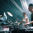 Junior Lima  apresentou seu projeto autoral de música eletrônica, o Manimal, em parceria com o DJ Julio Torres no palco Eletrônica do Rock in Rio na sexta-feira, 22 de setembro de 2017