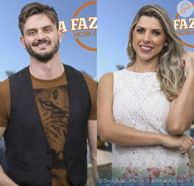 Marcos Harter e Ana Paula Minerato se agarraram na primeira festa de 'A Fazenda 9' no último sábado, 23 de setembro de 2017
