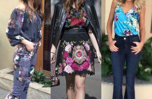 Looks florais invadem o guarda-roupa das famosas. Inspire-se para a primavera!