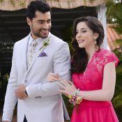 Cecília e Gustavo entram juntos no casamento de Estefânia em 'Carinha de Anjo'