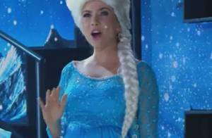 Grávida de 4 meses, Patrícia Abravanel canta vestida como princesa de 'Frozen'