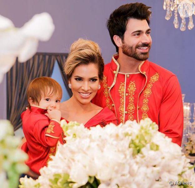Ex-BBBs Adriana Sant'Anna e Rodrigão anunciam sexo do segundo filho, em 1 de outubro de 2017