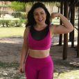 Cacau, vice-campeã do 'BBB16', mantém a boa forma com exercícios fisícios