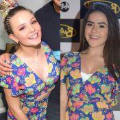 Larissa Manoela repete vestido de Maisa Silva. Quem usou melhor o look? Fotos!