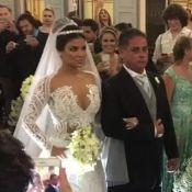 Ex-BBB Munik usa vestido de R$ 40 mil no casamento com Anderson Felício. Vídeos!