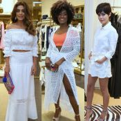 Branco domina looks de Juliana Paes, Erika Januza e Julia Dalavia em evento