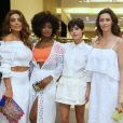 Juliana Paes, Erika Januza, Julia Dalavia, Maria Fernanda Cândido e Camila Queiroz se encontraram no lançamento da coleção de Alto Verão da Le Lis Blanc, no Rio de Janeiro, em 5 de outubro de 2017