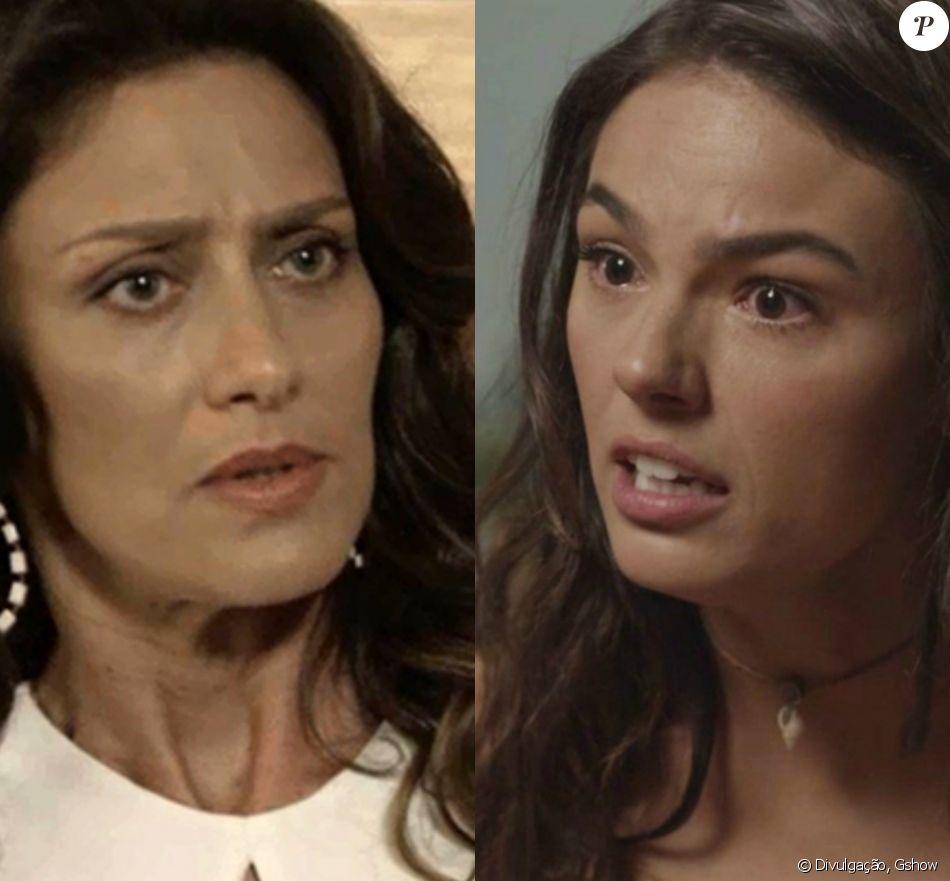 Joyce (Maria Fernanda Cândido) tranca a porta do apartamento para impedir Ritinha (Isis Valverde) de levar Ruyzinho (Lorenzo Souza), na novela 'A Força do Querer', em 9 de outubro de 2017