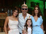 Otaviano Costa usa chifre de unicórnio em festa de 7 anos da filha, Olívia