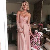 Daminha de Marina Ruy Barbosa, Títi usa look florido em casamento da atriz. Foto