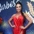 Gracyanne Barbosa, rainha de bateria da União da Ilha, é dona de um corpo definido e musculoso