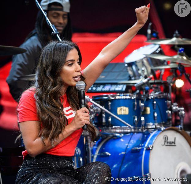 Anitta falou sobre sexo com namorado programa 'Altas Horas' na noite de sábado, 7 de outubro de 2017