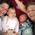 'Gostei de ficar grávida, me senti poderosa por gerar uma vida dentro de mim. Nunca direi 'nunca', mas, por enquanto, nossa família está completa', explicou Thais Fersoza