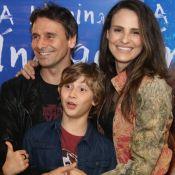 Murilo Rosa recebe Fernanda Tavares e filho em pré-estreia de 'A Menina Índigo'
