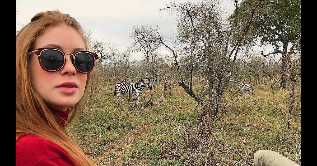 b2b31c53b Marina Ruy Barbosa, com óculos de grife, brinca com trocadilho em safári:  'Deu zebra' - Purepeople