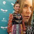 A modelo Valentina Sampaio, estreante no cinema, caprichou na produção com um look Gucci de mais de R$ 36 mil para o Festival do Rio, em 7 de outubro de 2017