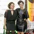 Debora Bloch usou uma produção com transparências para prestigiar o Festival do Rio ao lado da filha, Julia Anquier, em 5 de outubro de 2017
